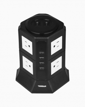 Surge Protector Power Strip Tower with 8 Outlets 4 USB