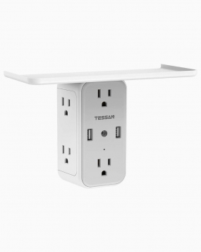 Multi Plug Surge Protector with 6 Outlets 2USB